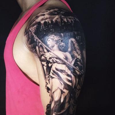 大手臂一面纹身款式图