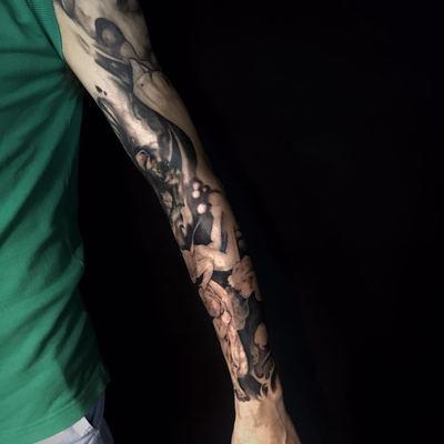 圣母天使花臂纹身款式图