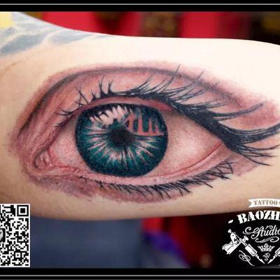 3D写实眼睛纹身款式图