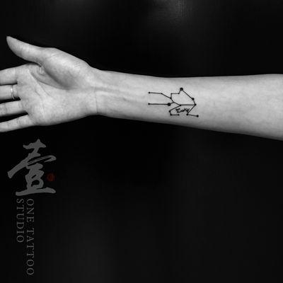 星象图纹身图