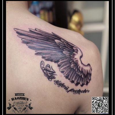 翅膀纹身图