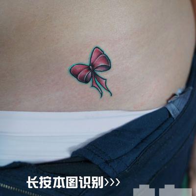 蝴蝶结案纹身款式图