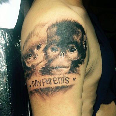 写实猴子纹身款式图