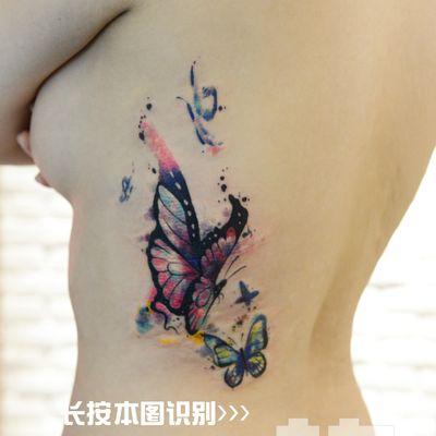 蝴蝶案纹身图