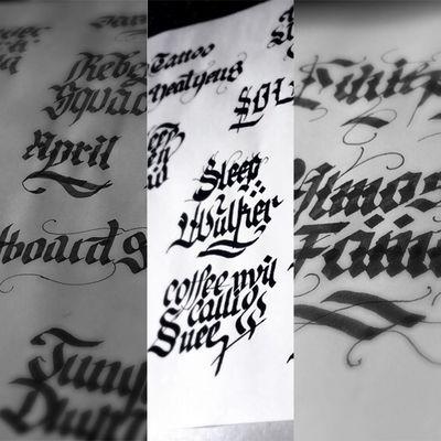 花体字纹身图