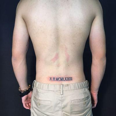 罗马数字纹身图