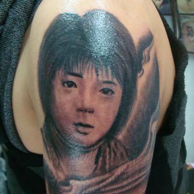 肖像花臂4纹身图