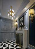 130平米三室两厅英伦风格玄关图片