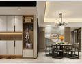 120平米三室一厅中式风格餐厅装修效果图