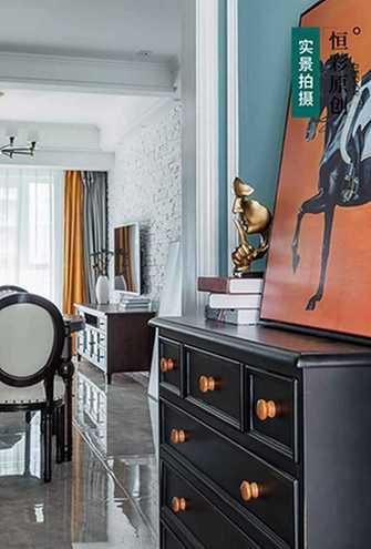 5-10万80平米三室两厅美式风格玄关装修效果图