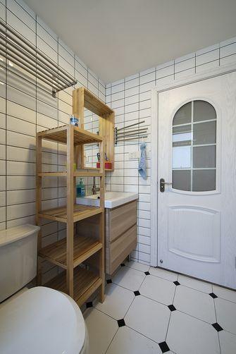 60平米一室两厅田园风格卫生间设计图