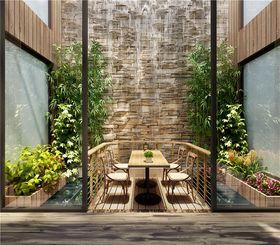 140平米别墅田园风格阳台设计图