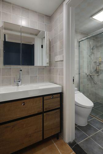 110平米三室一厅美式风格卫生间图片