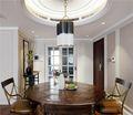 140平米三室一厅混搭风格餐厅欣赏图