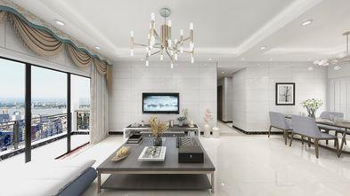 富裕型80平米三室两厅现代简约风格客厅图片大全