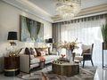80平米一居室现代简约风格客厅装修案例