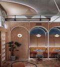 120平米英伦风格客厅设计图