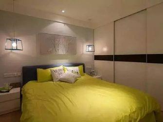 110平米三室两厅现代简约风格卧室背景墙图片大全