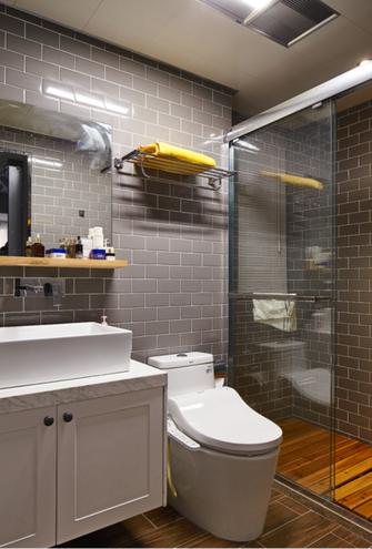80平米三室两厅混搭风格卫生间装修案例