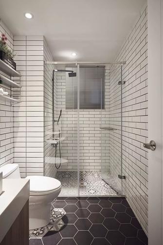120平米三室两厅北欧风格卫生间设计图