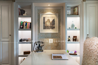 豪华型140平米别墅欧式风格书房设计图