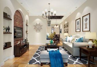 90平米三室两厅美式风格客厅沙发装修案例