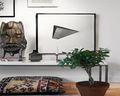 70平米一室五厅现代简约风格客厅效果图