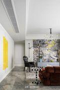 120平米四室两厅混搭风格客厅图片大全