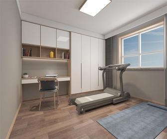 110平米三室两厅现代简约风格健身室欣赏图