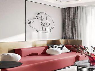 100平米三室三厅法式风格客厅设计图