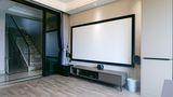 100平米四室两厅混搭风格影音室图片大全