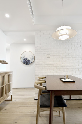 80平米三室一厅宜家风格餐厅图片