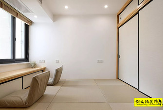 80平米日式风格影音室设计图