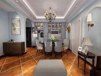 120平米三室两厅田园风格餐厅图片