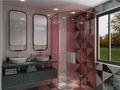 130平米三室两厅地中海风格卫生间图片大全