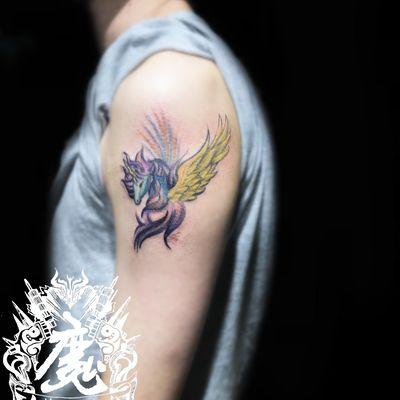 飞马纹身图