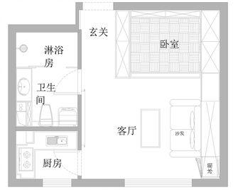 40平米小户型现代简约风格阁楼设计图
