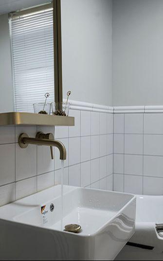 110平米三室两厅美式风格卫生间图片