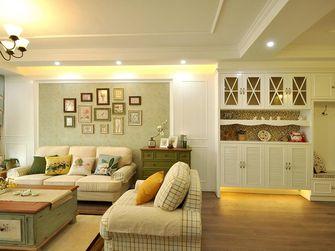 100平米三室三厅田园风格客厅装修效果图
