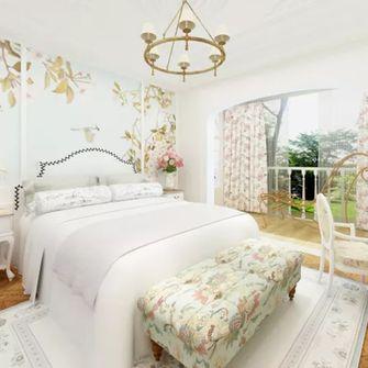 140平米三室一厅田园风格卧室图片大全