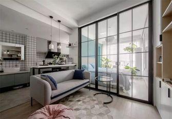 60平米一居室现代简约风格客厅效果图