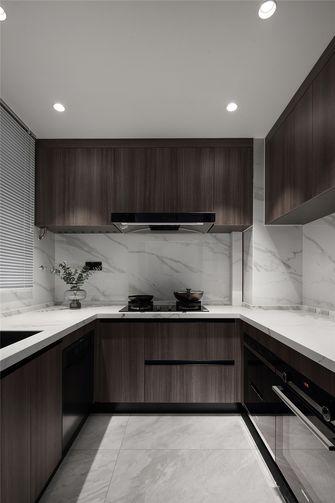 120平米三室一厅混搭风格厨房图