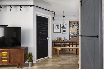 80平米三室两厅混搭风格餐厅装修效果图