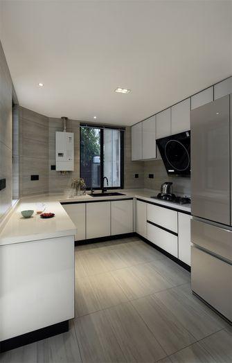 90平米三室一厅现代简约风格厨房设计图