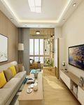 120平米三室两厅日式风格客厅沙发图