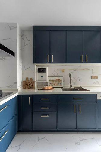 130平米三室两厅英伦风格厨房图