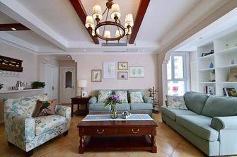 120平米三室两厅田园风格客厅设计图