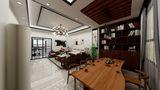 100平米公寓中式风格客厅装修效果图