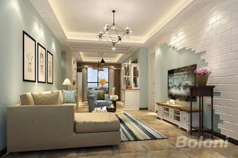 100平米三室一厅美式风格客厅图