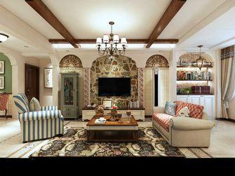 140平米三室一厅田园风格客厅效果图